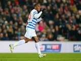 Leroy Fer of QPR celebrates scoring the opening goal during the Barclays Premier League match between Sunderland and Queens Park Rangers at Stadium of Light on February 10, 2015