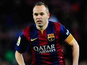 Andres Iniesta for Barcelona on February 1, 2015