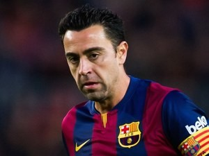 Xavi Hernandez for Barcelona on December 7, 2014