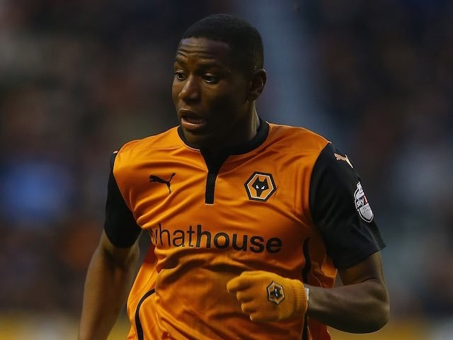 Benik Afobe for Wolves on January 24, 2015
