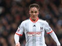 Lasse Vigen Christensen of Fulham during the Sky Bet Championship match between Fulham and Derby County at Craven Cottage at Craven Cottage on February 28, 2015