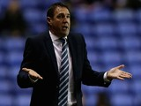 Wigan manager Malky Mackay gives instructions during the Sky Bet Championship match between Reading and Wigan Athletic at Madejski Stadium on February 17, 2015