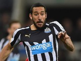 Jonas Gutierrez of Newcastle United on the ball during the Bar