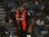 Miles Addison of Bournemouth attacks during the pre season friendly match between Bournemouth and Real Madrid at Goldsands Stadium on July 21, 2013