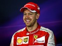 Sebastian Vettel of Germany and Ferrari attends the post-race press conference after the Australian Formula One Grand Prix at Albert Park on March 15, 2015