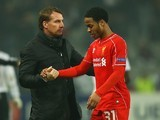Brendan Rodgers and Raheem Sterling on February 26, 2015
