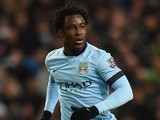 Wilfried Bony in action for Manchester City on February 21, 2015