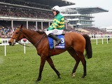 A.P. McCoy riding Carlingford Lough looks on after finishing ninth in the Betfred Cheltenham Gold Cup on March 13, 2015
