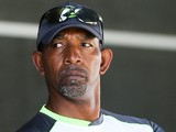 Coach Phil Simmons of Ireland looks on during the 2015 ICC Cricket World Cup match between the West Indies and Ireland at Saxton Field on February 16, 2015