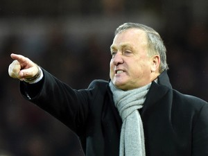 Sunderland's Dutch manager Dick Advocaat reacts during the English Premier League football match between West Ham United and Sunderland at the Boleyn Ground in Upton Park, East London on March 21, 2015