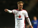 Ben Reeves of MK Dons in action during the FA Cup Second Round match between MK Dons and Chesterfield at Stadium mk on January 2, 2015