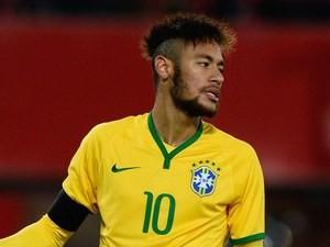 Neymar in action for Brazil on November 18, 2014