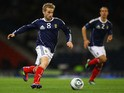 Barry Bannan of Scotland in action during the UEFA EURO 2012 Group I qualifying match between Scotland and Lithuania at Hampden Park on September 6, 2011