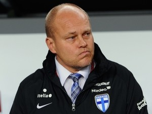 Finland's national team's head coach Mixu Paatelainen is pictured prior to the UEFA 2016 European Championship qualifying round Group F football match Hungary vs Finland at the Groupama Arena stadium in Budapest on November 14, 2014