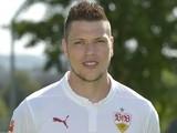Stuttgart's forward Daniel Ginczek poses during the team presentation of the German first division Bundeslig