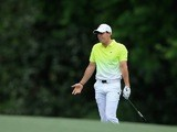 Rory McIlroy during the final round of The Masters on April 12, 2015