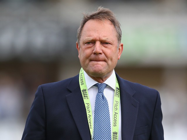ECB Managing Director Paul Downton of England during the third Royal London One-Day Series match between England and India at Trent Bridge on August 30, 2014