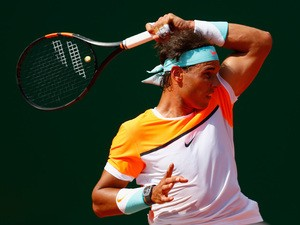 Rafael Nadal of Spain in action against David Ferrer of Spain during day six of the Monte Carlo Rolex Masters tennis at the Monte-Carlo Sporting Club on April 17, 2015