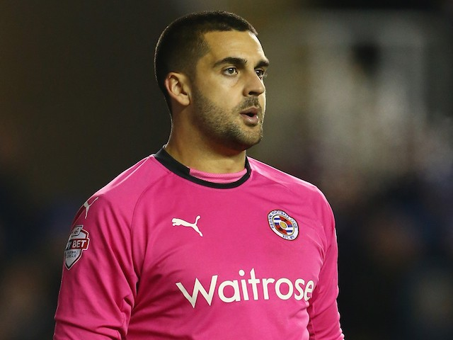 Adam Federici of Reading during the Sky Bet Championship match between Reading and Bolton Wanderers at the Madejski Stadium on December 6, 2014
