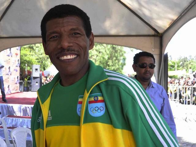 Ethiopian running legend Haile Gebrselassie on October 20, 2013