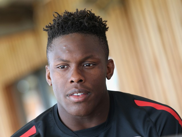 Maro Itoje faces the media during the Saracens media session held on April 14, 2015