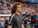 Paris Saint-Germain's Brazilian defender David Luiz looks on before the UEFA Champions league quarter-final first leg football match PSG vs FC Barcelona at the Parc des Princes stadium in Paris on April 15, 2015