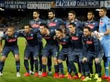 Napoli's players pose before the UEFA Europa League quarter final second leg football match SSC Napoli vs VFL Wolfsburg on April 23, 2015