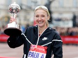 Paula Radcliffe of Great Britain receives the inaugural John Disley London Marathon Lifetime Achievement Award during the Virgin Money London Marathon on April 26, 2015