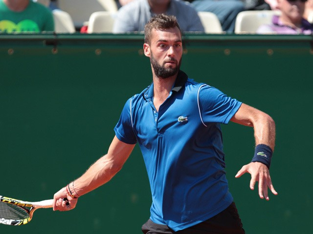 French Benoit Paire hits a return to American Denis Kudla on April 13, 2015