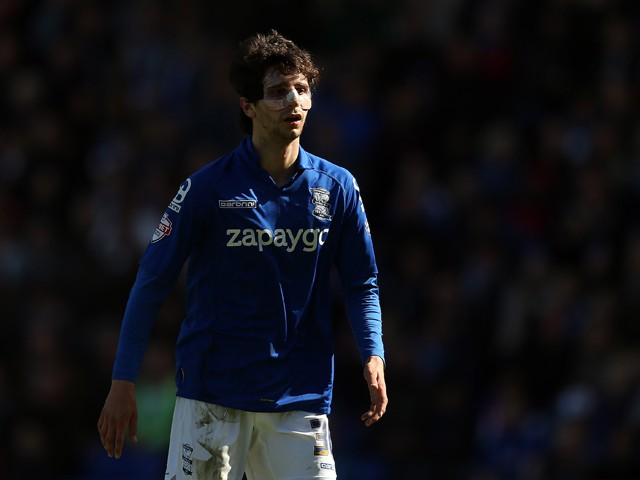 Diego Fabbrini of Birmingham City looks on during the Sky Bet Championship match between Birmingham City and Wolverhampton Wanderers at St Andrews on April 11, 2015