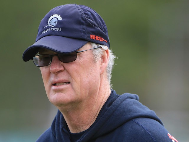 John Bracewell, Director of Cricket of Gloucestershire, looks on during day three of the LV County Championship second division match between Gloucestershire and Yorkshire at The County Ground on May 11, 2012