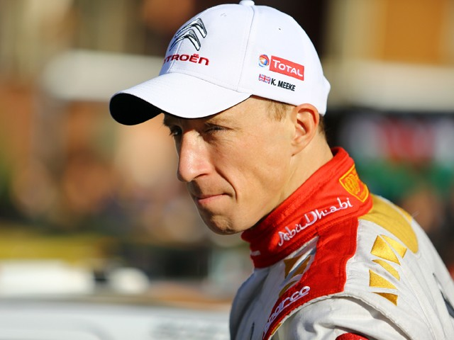 Kris Meeke of Great Britain during Day Four of the WRC Montecarlo on January 25, 2015