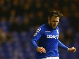 Birmingham City defender Jonathan Grounds clears the ball during a Championship match against Millwall on February 10, 2015