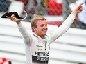 Nico Rosberg of Germany and Mercedes GP celebrates in parc ferme after winning the Monaco Formula One Grand Prix at Circuit de Monaco on May 24, 2015