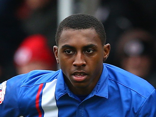 Amari'i Bell of Gllingham looks to attacks during the Sky Bet League One match between Crawley Town and Gillingham at The Checkatrade.com Stadium on March 28, 2015