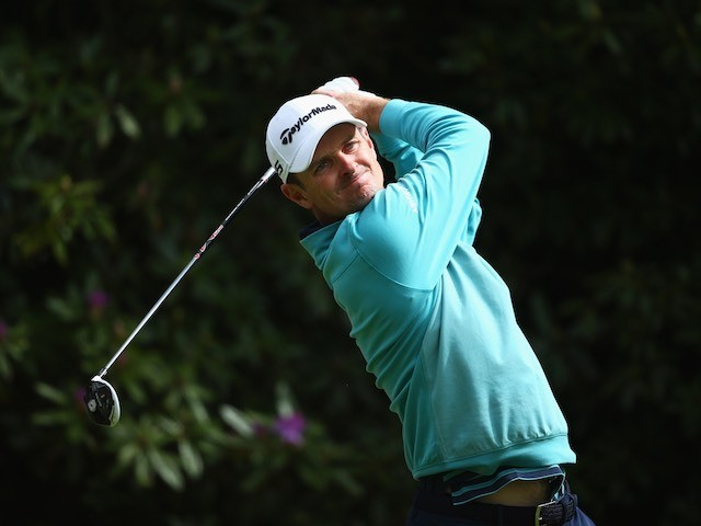 Justin Rose on day two of the BMW PGA Championship on May 22, 2015