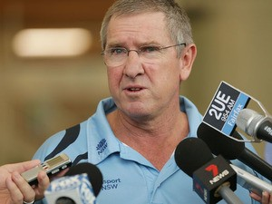 NSW Blues Head Coach Trevor Bayliss speaks to media during a NSW Blues Sheffield Shield Nets Session at Sydney Cricket Ground on December 8, 2014
