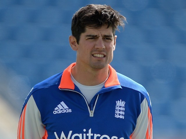 Alastair Cook during an England nets session on May 28, 2015