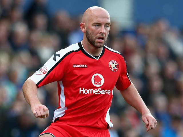 James O'Connor of Walsall in action during the Sky Bet League One match between Oldham Athletic and Walsall at Boundary Park on October 11, 2014