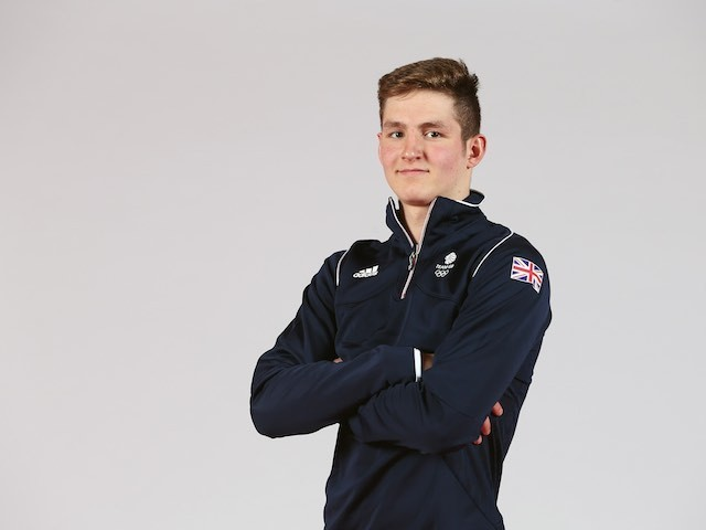 Tom Fannon at the Team GB kitting out ahead of the European Games on May 28, 2015