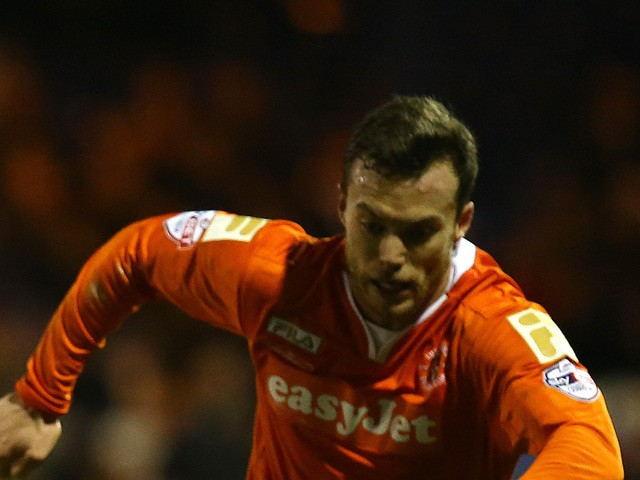 Shaun Whalley during the FA Cup Second Round Replay match between Luton Town and Bury at Kenilworth Road on December 16, 2014
