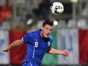 Andrea Belotti of Italy in action during the 2015 UEFA European U21 Championships Qualifier match between Italy U21 and Serbia U21 at Adriatico Stadium on September 5, 2014
