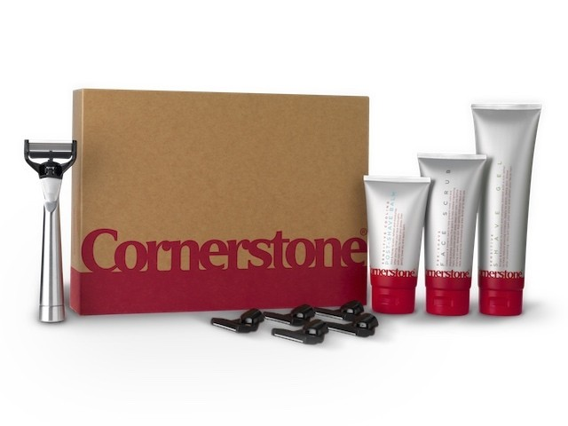 A picture of the Cornerstone shaving kit