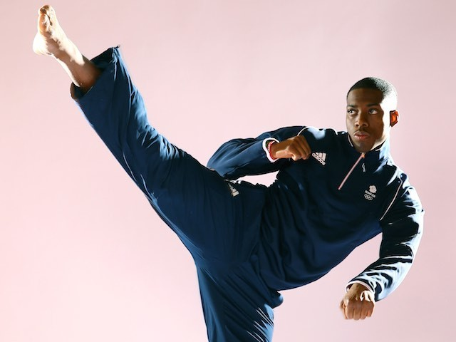 Team GB taekwondo athlete Lutalo Muhammad in May 2015