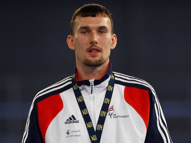 Team GB taekwondo athlete Martin Stamper at the European Taekwondo Championships on May 6, 2012