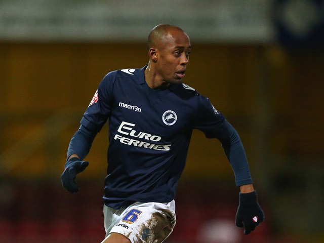 Nadjim Abdou of Millwall during the FA Cup Third Round Replay match between Bradford City and Millwall at Coral Windows Stadium, Valley Parade on January 14, 2015