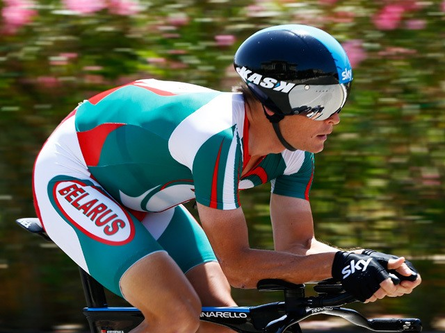 Vasil Kiryienka of Belarus competes in the Men's Individual Time Trial during day six of the Baku 2015 European Games at Bilgah Beach on June 18, 2015