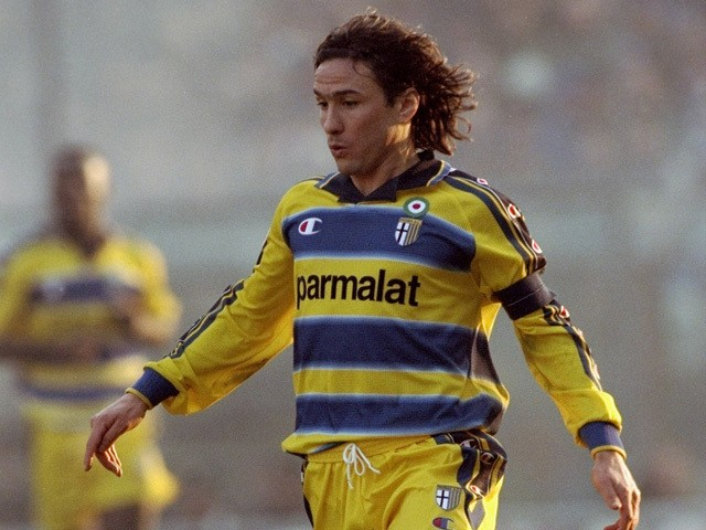 Antonio Benarrivo of Parma in action during the Italian Serie A match against Inter Milan played at Stadio Tardini in Parma, Italy