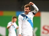 Nicolas Lombaerts of FC Zenit St. Petersburg celebrates after their victory over PFC CSKA Moscow in the Russian Premier League match between PFC CSKA Moscow and FC Zenit St. Petersburg at the Arena Khimki Stadium on November 01, 2014