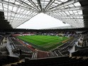 A general view inside the ground prior to the Barclays Premier League match between Swansea City and Southampton at Liberty Stadium on May 3, 2014